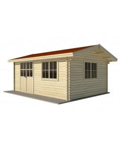 Caseta de jardin  ZOYA 4x4 , 16 m2 - 44mm