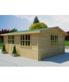 Caseta de jardin ZOYA 5x3, 15 m2 - 44mm