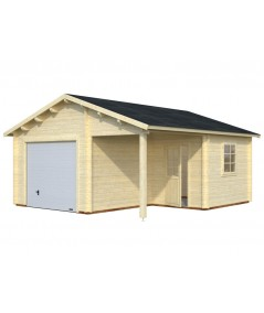 Garaje de madera  ROGER 21,9+ 5,2 m2 con portón  seccional