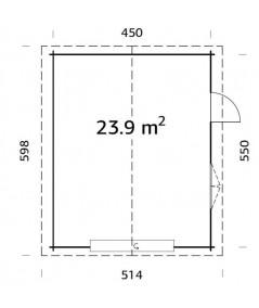 GARAJE DE MADERA ROGER 23,9  m2 CON PORTON SECCIONAL