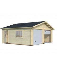 Garaje de madera Roger 28,4 m2 con portón seccional