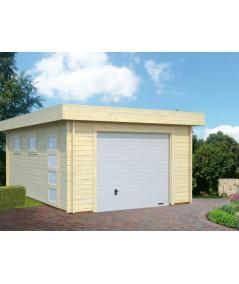 Garaje de madera  RASMUS  19 m2  con portón seccional