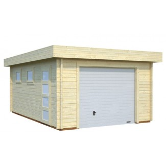 """Garatge de fusta """"NOVEL"""" amb porton basculant"""