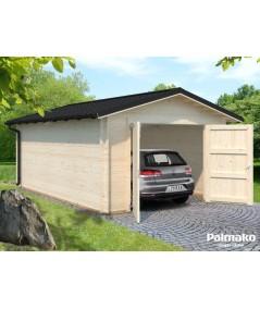 Garaje de madera  TOMAS 19.2 m2  con tejado metálico