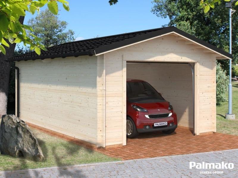 """Garatge de fusta """"3"""" amb porton basculant"""