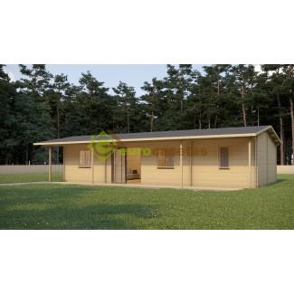 """Casa de madera """"ALDAN"""" 81 m2- 70 mm"""