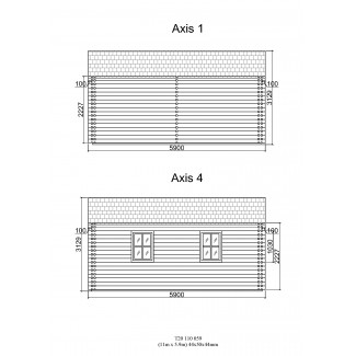 Casa de madera KRISTI TWINSKIN en doble pared 44-50-44