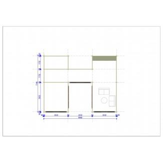 """Casa de madera  de diseño  """"GARDA"""" 55 m2- 70 mm"""