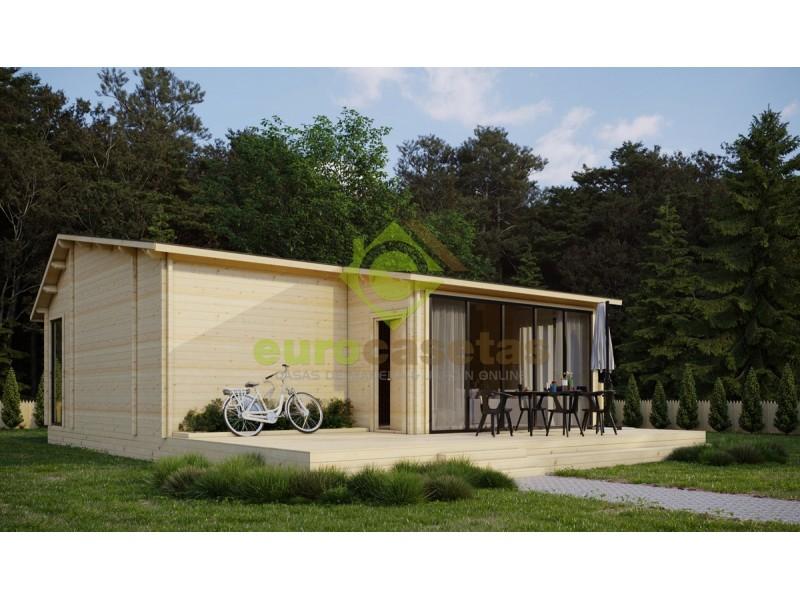 "Casa de madera    ""LOIRE"" 106 m2- 70 mm"