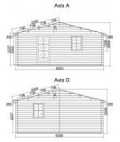 """Casa de madera  """"JULIA 6x8 , 48 m2  """""""