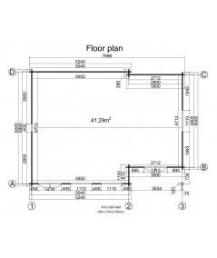 """Casa de jardin  """"EVORA 8X6 , 48 m2  """""""