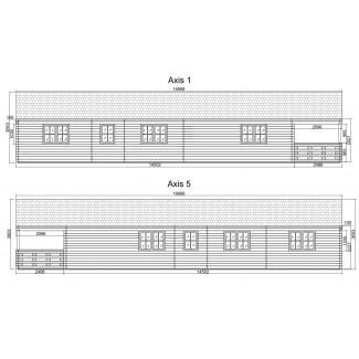 """Casa de madera  """"ESTORIL , 136 m2 """" - 44 mm"""