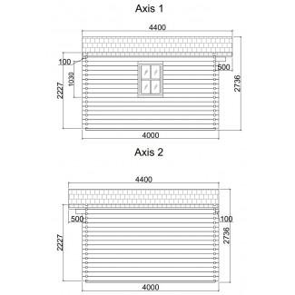 CASETA DE MADERA  LDA 4X4 , 44 mm