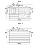 "Caseta de jardí ""LIDA 2""  44 mm"