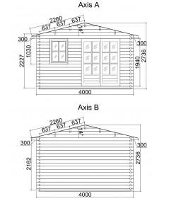 Caseta de jardin LIDA 4x5