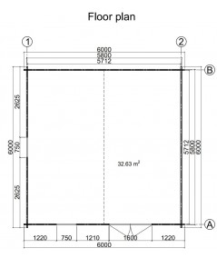 Caseta de jardin LIDA 6x6