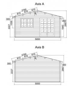 Caseta de jardín ALTEA 5x4