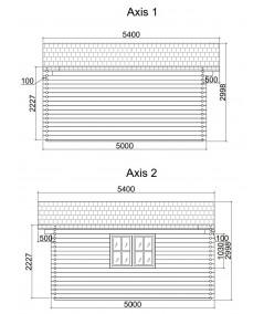 Caseta de jardín ALTEA 6X5