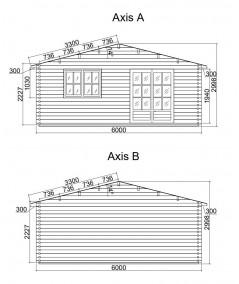 Casa de jardin ALTEA 6x6 , grosor 44 mm