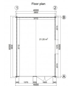 Caseta de jardín ALTEA 4X6