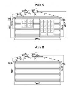 Caseta de jardín ALTEA 5X3