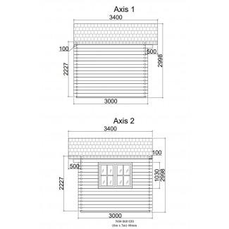 Caseta de jardín ALTEA 6x3