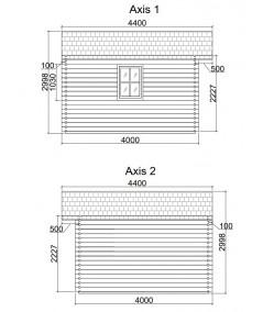 Casa de jardín MONICA 6x4