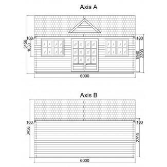Casa de madera  LONDON 2  , 44 mm
