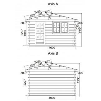 Caseta de jardín DENIA 4x5
