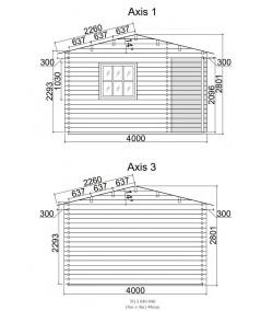 """Caseta de jardin """"ALPINA  4x4"""" - 44mm"""
