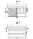 """Caseta de jardin """"ALPINA  4x5 """" - 44mm"""
