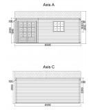 """Caseta de jardin """"ALPINA 6x5"""" - 44mm"""