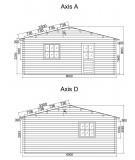 Garaje de madera   TRIO 9X6   - 44mm