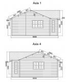 """Casa de madera  """"FLORIDA """" - 44 mm"""