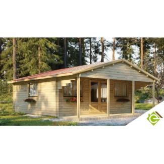 """Casa de jardin  """"TOPO  6X6 + 6x2 terraza  , 48 m2  """""""