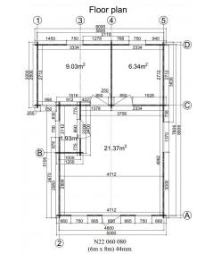 DANI 6X8 , 48 m2