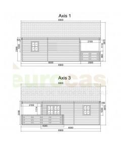 """Casa de madera """"ASTI"""" - 44 mm"""