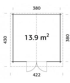 """Caseta de jardín """"LOTTA 13.9 m2"""