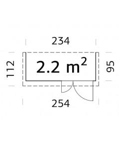Trastero de madera   LEIF 2,2 m2