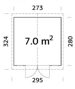 Trastero de madera  DAN 7,5 m2