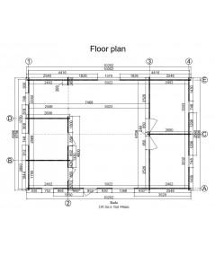 """Casa de madera """"RADO 72  m2"""" - 44mm"""