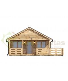 """Casa de madera """"ASTI , 64 m2"""" - 44mm"""