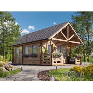 Casa de madera (altillo) NOIA 34 m², 44mm