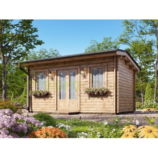 Caseta de jardín   NIKA  5X3 , 15 m2 , 44 mm