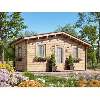 Caseta de jardín GANDIA  5X3 , 15 m2 , 44 mm