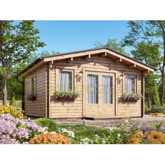 Caseta de jardín MONICA 4x4 , 16 m2 , 44 mm