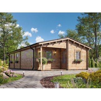 "Casa de madera ""MALLORCA TWINSKIN, 72 m2"" - 44-50-44mm"