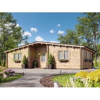 "Casa de madera  ""KRISTI TWINSKIN , 64,9 m2"" -  en doble pared 44-50-44 mm"