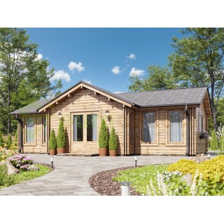 "Casa de madera  ""FLORIDA  TWINSKIN"" en doble pared 44-50-44 mm"