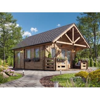"Casa de madera   ""NOIA TWINSKIN , 34 m2  en doble pared 44-50-44 mm"